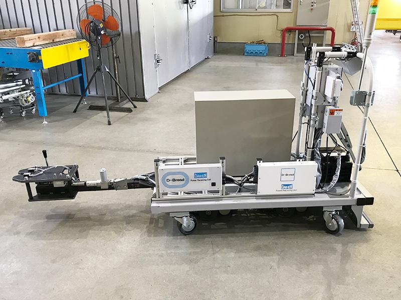 ワイヤレス充電付インテリジェントAGV制御システム